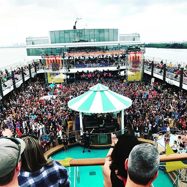 I'm finally 80% recovered from @therockboat XIX - what an amazing week at sea w/ @andthemethod!! The best crew: @juny.mag @julianlitwack @koz.za @tloui @tinylittledonuts @andyxsuzuki  And thanks to @sxmliveloud for throwing the party!  #rockboat #sixthman #bahamas #keywest #norwegianpearl #andysuzukiandthemethod #rock #pooldeck #atrium even had @nataldrumsofficial on board!