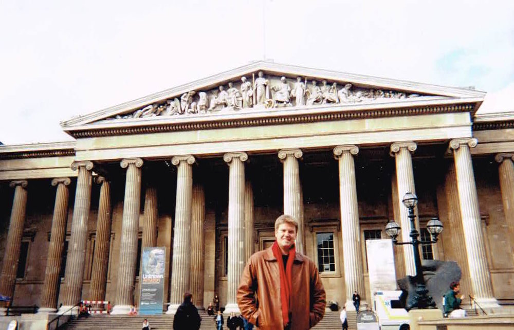 Here I am standing in front of the British Museum. #collegedays