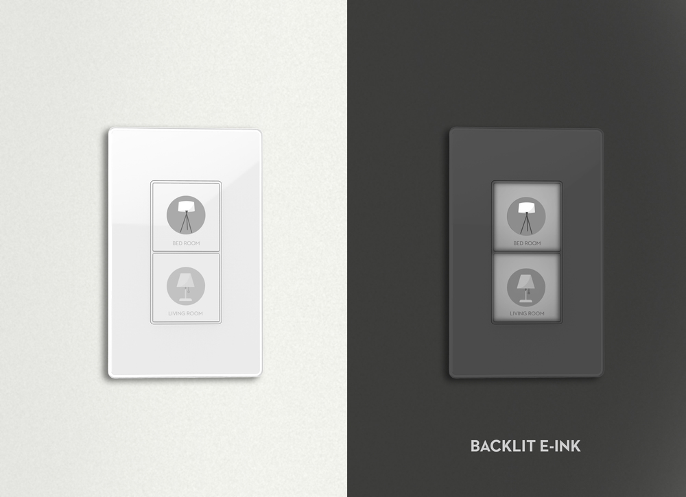 E-ink smart wall switch