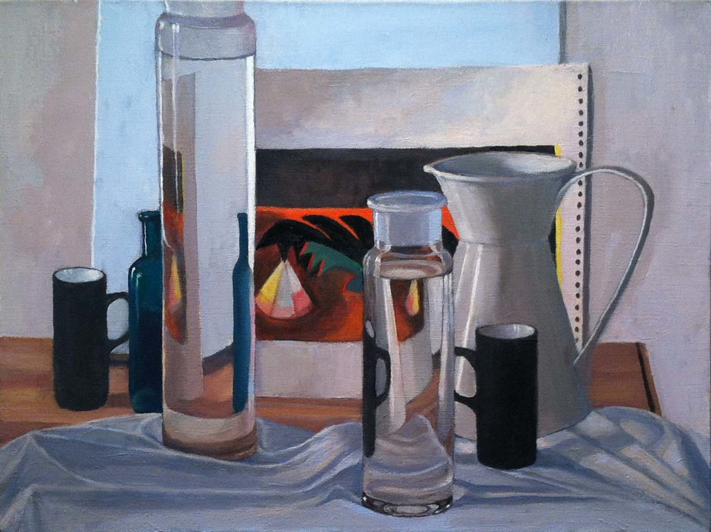 Black Demitasse,  2000 - 01 oil on linen, 18 x 24 inches