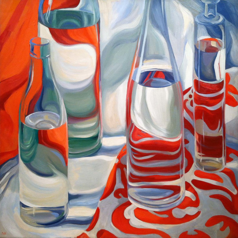 Red, White, and Gray,  1971 oil on canvas, 50 x 50 inches