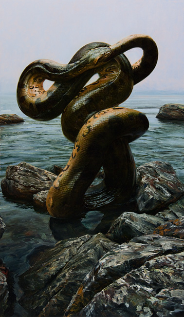 Infinite Whole,  2012 oil on canvas on panel, 60 x 35 inches