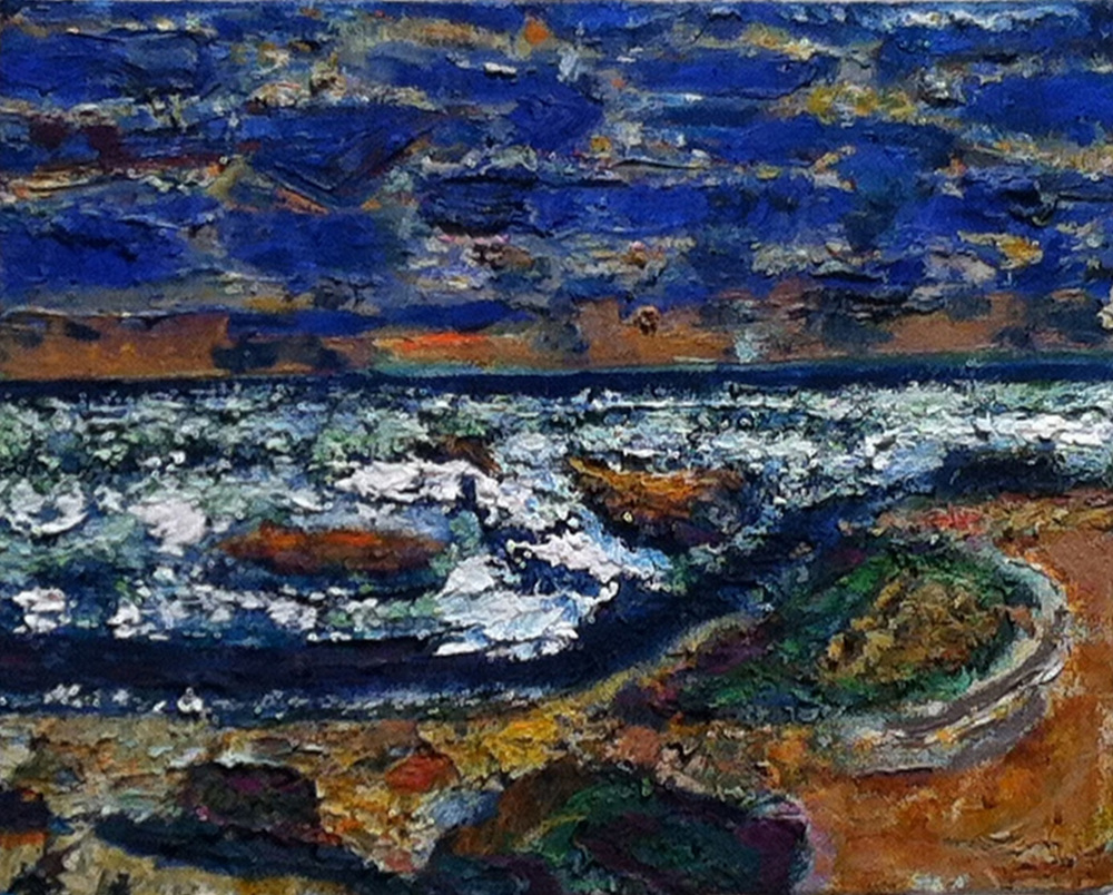 Ocean Light,  2004 - 05 oil on canvas, 8 x 10 inches