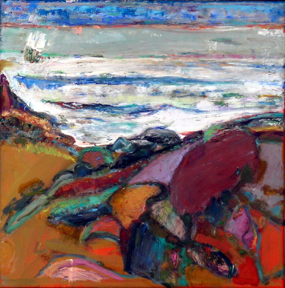 White Waves, 2005 oil on canvas, 12 x 12 inches
