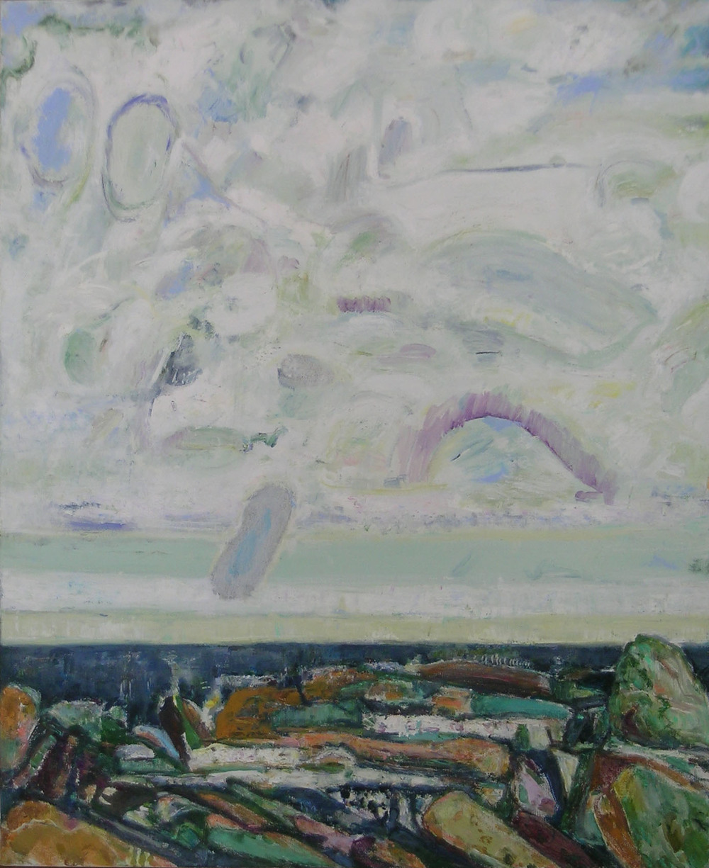 Morning Message,  2005 oil on canvas, 44 x 36 inches