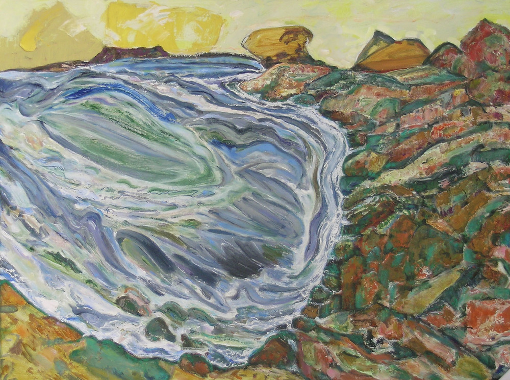 Wave II,  2005 oil canvas, 30 x 40 inche
