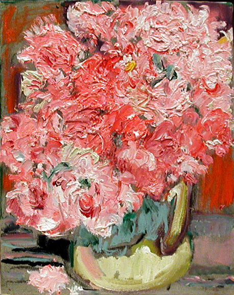 Roses,  2003 oil on canvas, 10 x 9 inches