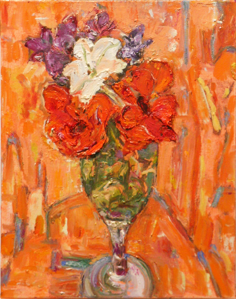 Orange Day,  2005 oil on canvas, 10 x 8 inches