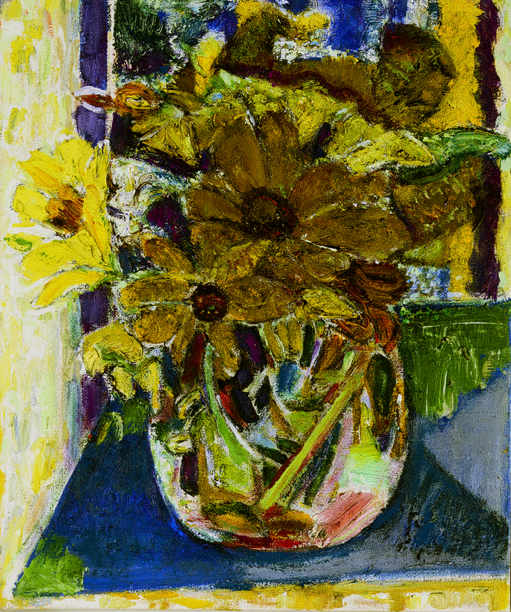 Flowers in the Afternoon,  2003 - 04 oil on canvas, 12 x 10 inches
