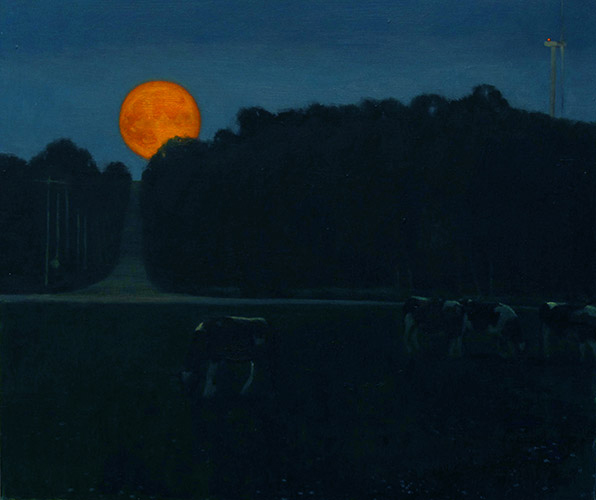 Harvest Moon,  2012 oil on canvas, 13 1/2 x 16 inches