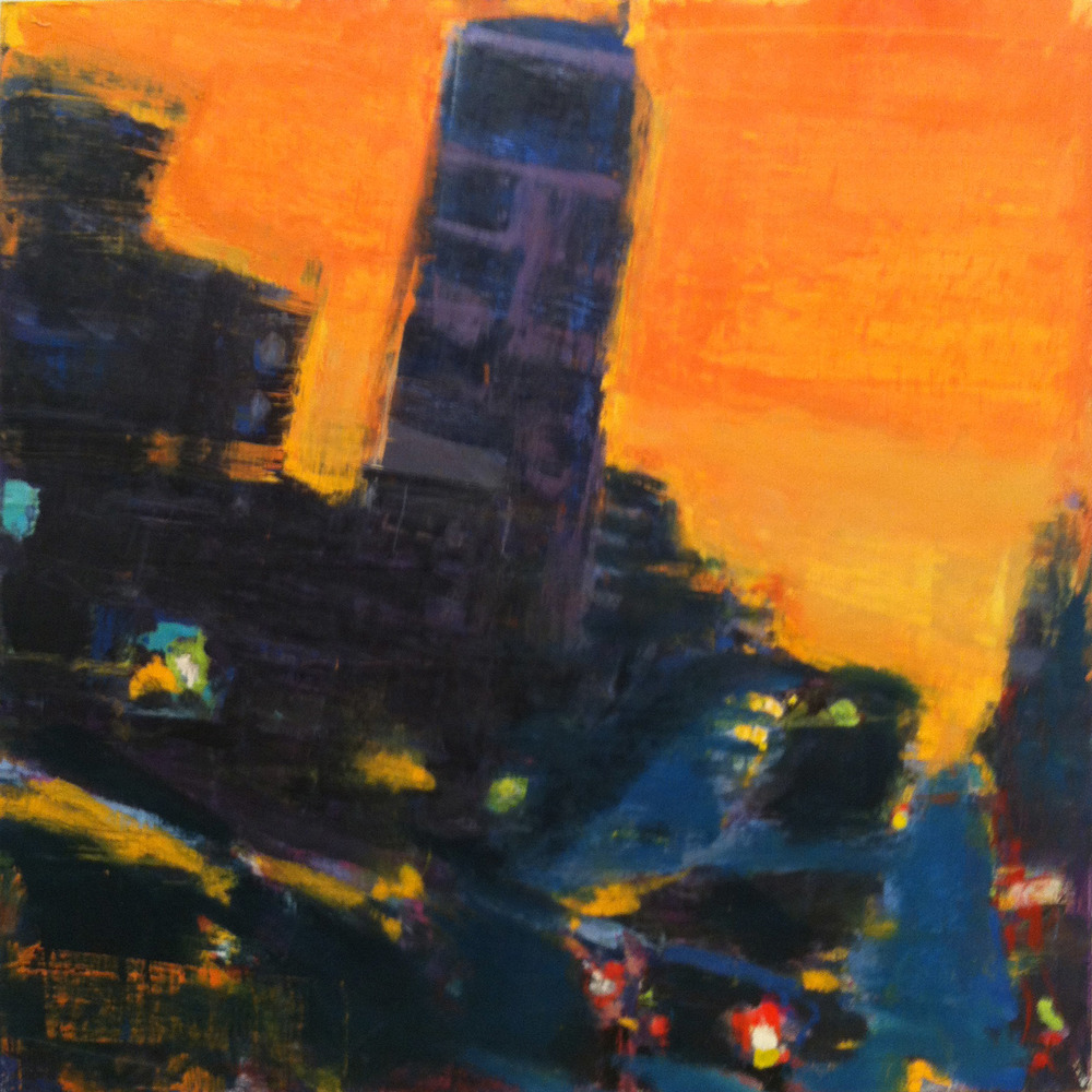 Broadway from 150th Street,  2012 oil on linen, 36 x 36 inches