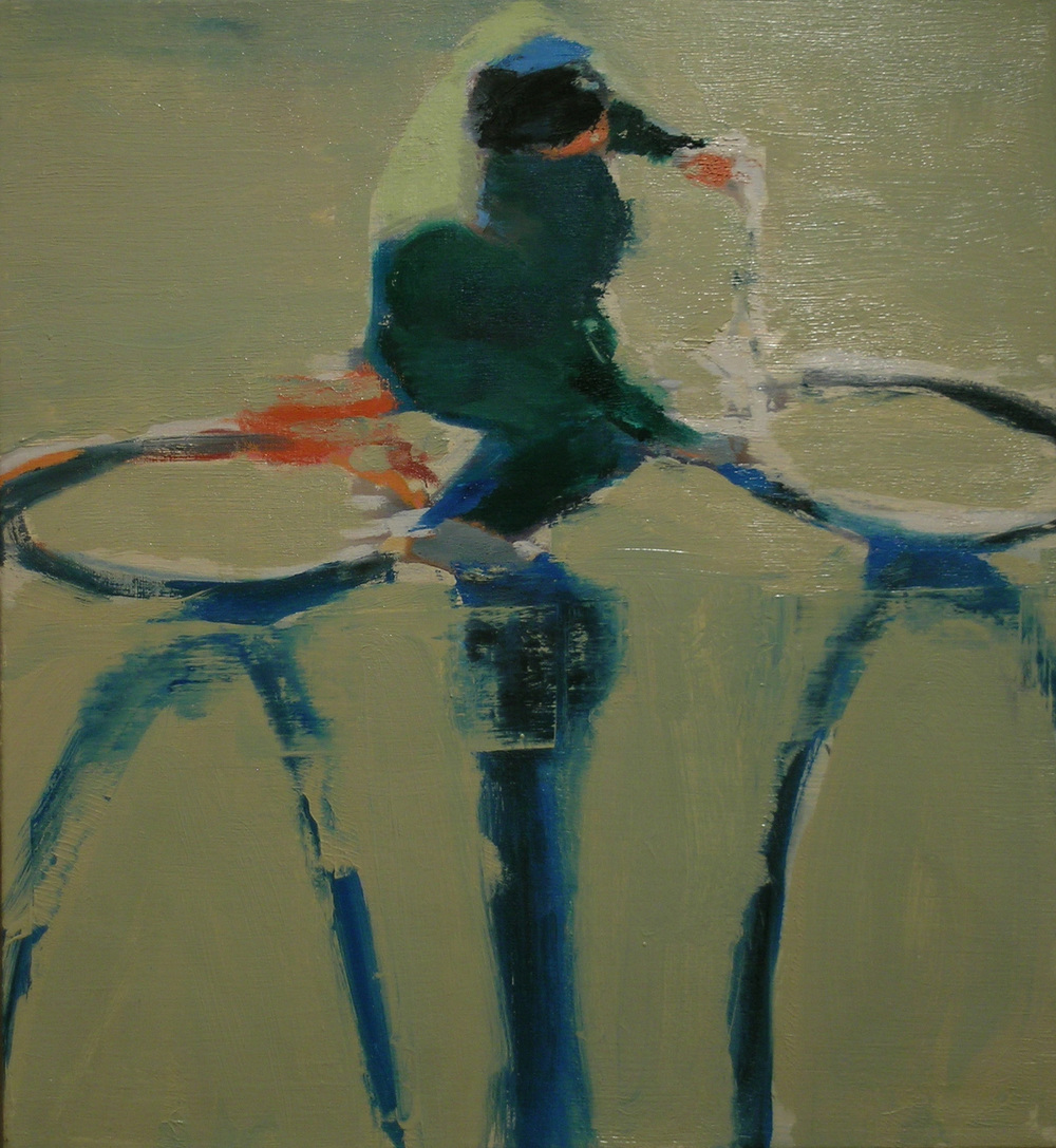 Cyclist (Yellow),  2006 oil on linen, 22 x 20 inches