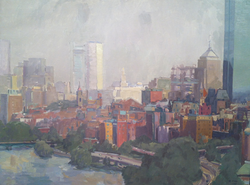 August Haze , 1987 oil on canvas, 24 x 32 inches