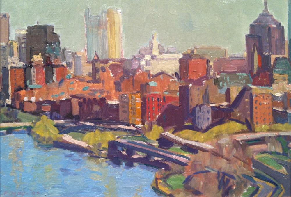 Early Summer, Boston,  1987 oil on canvas, 10 3/4 x 15