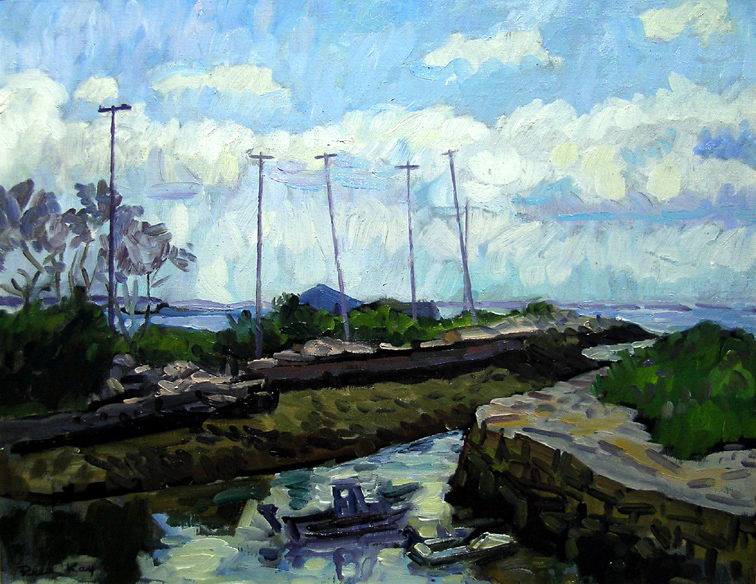 Bay View Channel,  2003 oil on canvas, 16 x 20 inches