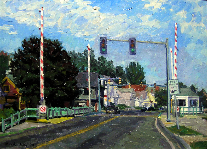 Bridge on the Boulevard,  2003 oil on canvas, 15 x 20 inches