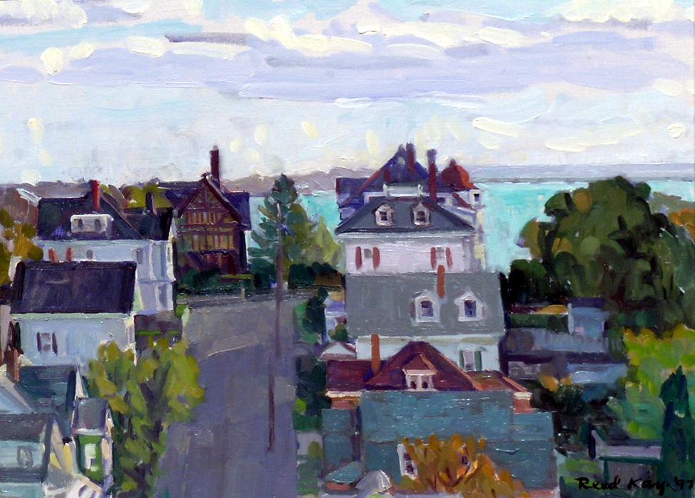 Hampden Street, 1997 oil on canvas, 12 x 16 inches