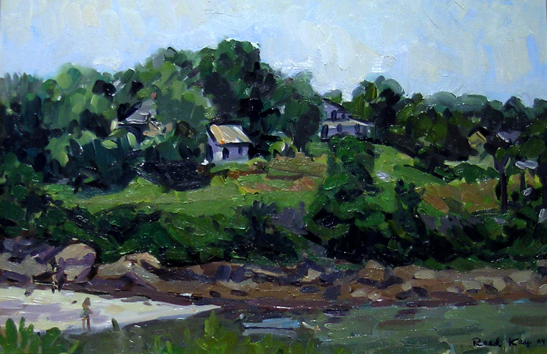 Hill at Hodgkins Cove, 2004 oil on canvas, 12 x 18 inches