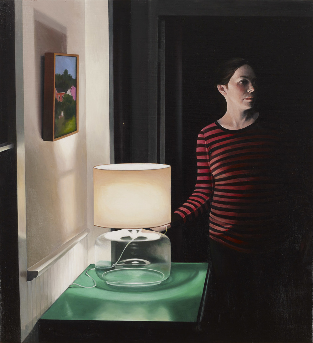 Waiting,  2013 oil on linen, 24 x 22 inches