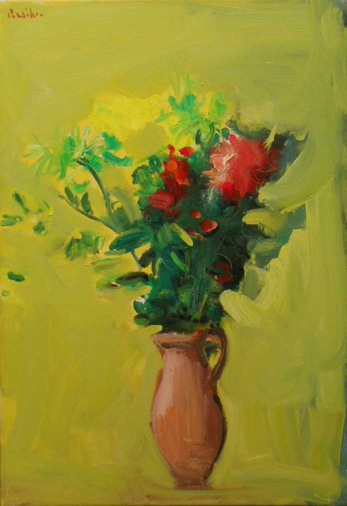 New Years Day Flowers , 2008 oil on canvas, 26 x 18 inches