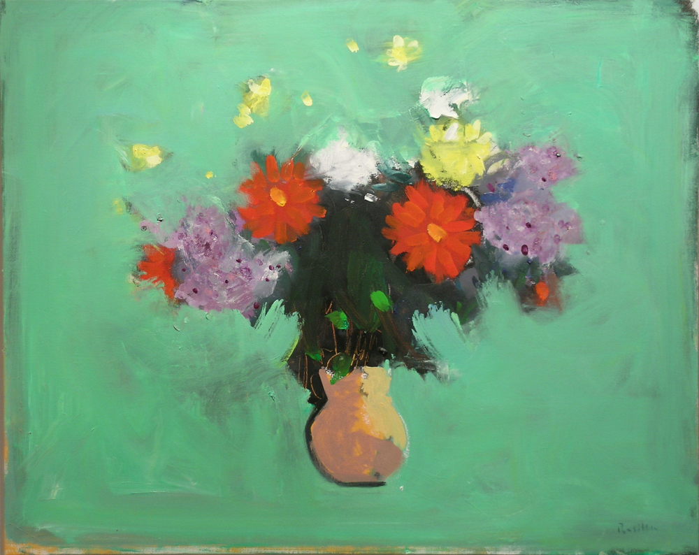 Birthday Bouquet with Lilacs, II , 2007 oil on canvas, 24 x 30 inches