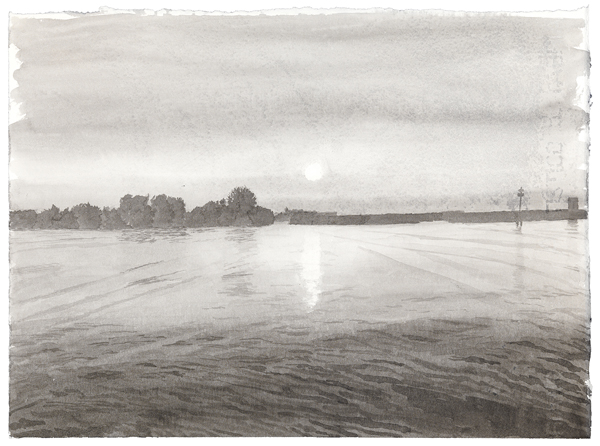 Venice 3,  2012 ink was on paper, 11 x 15 inches