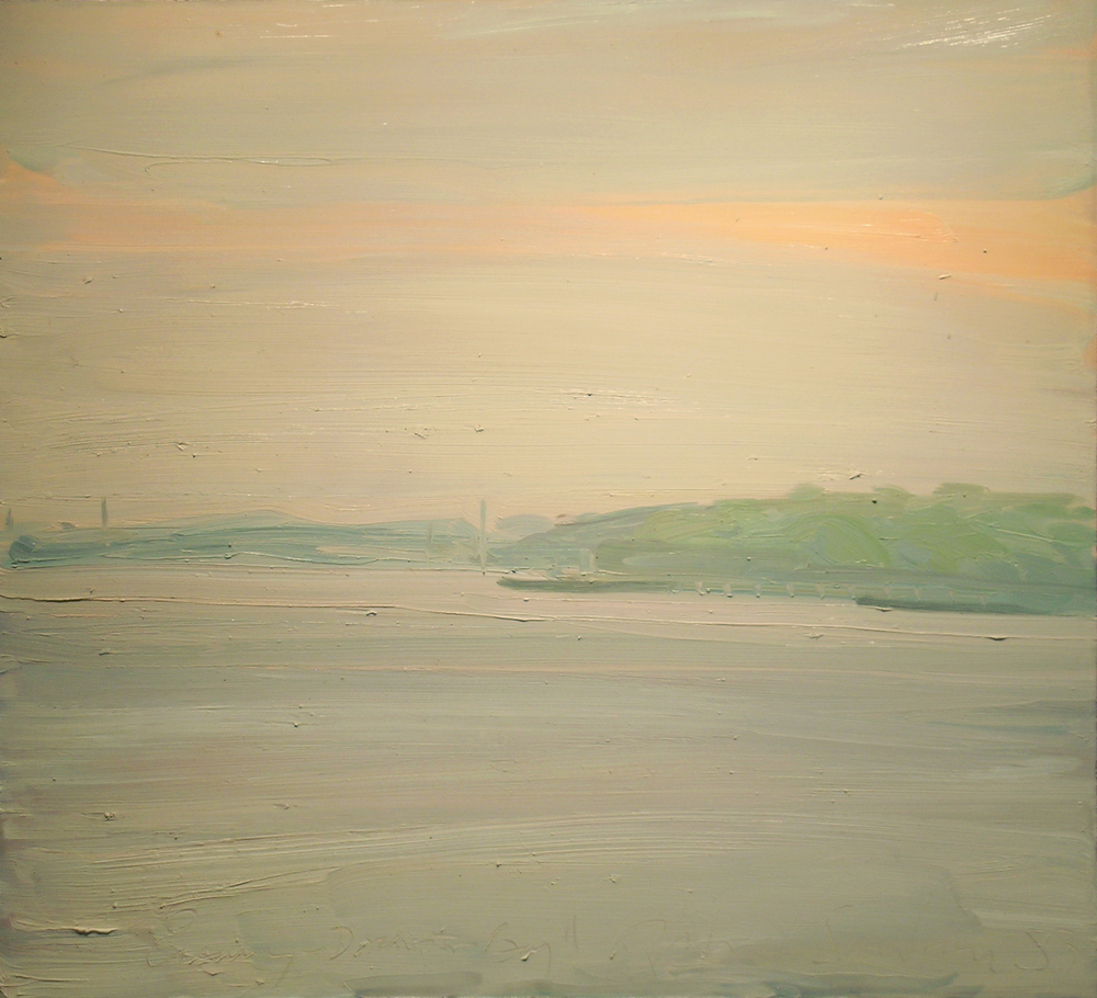 Evening, Dorchester Bay , 1983 oil on canvas, 42 x 46 inches
