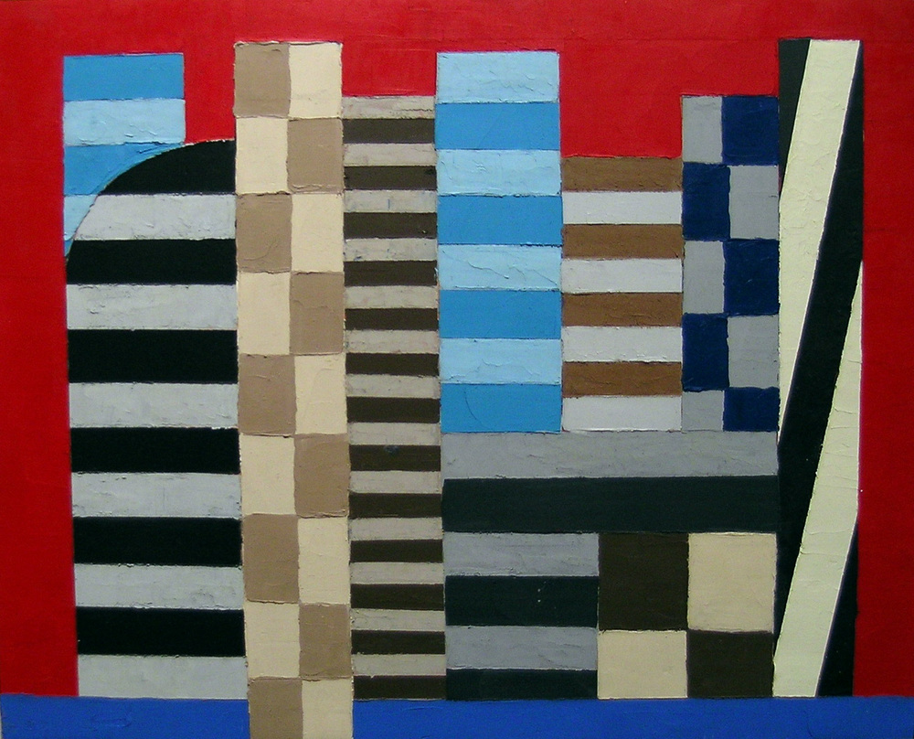 City II , 2004 oil & wax on panel, 16 x 20 inches