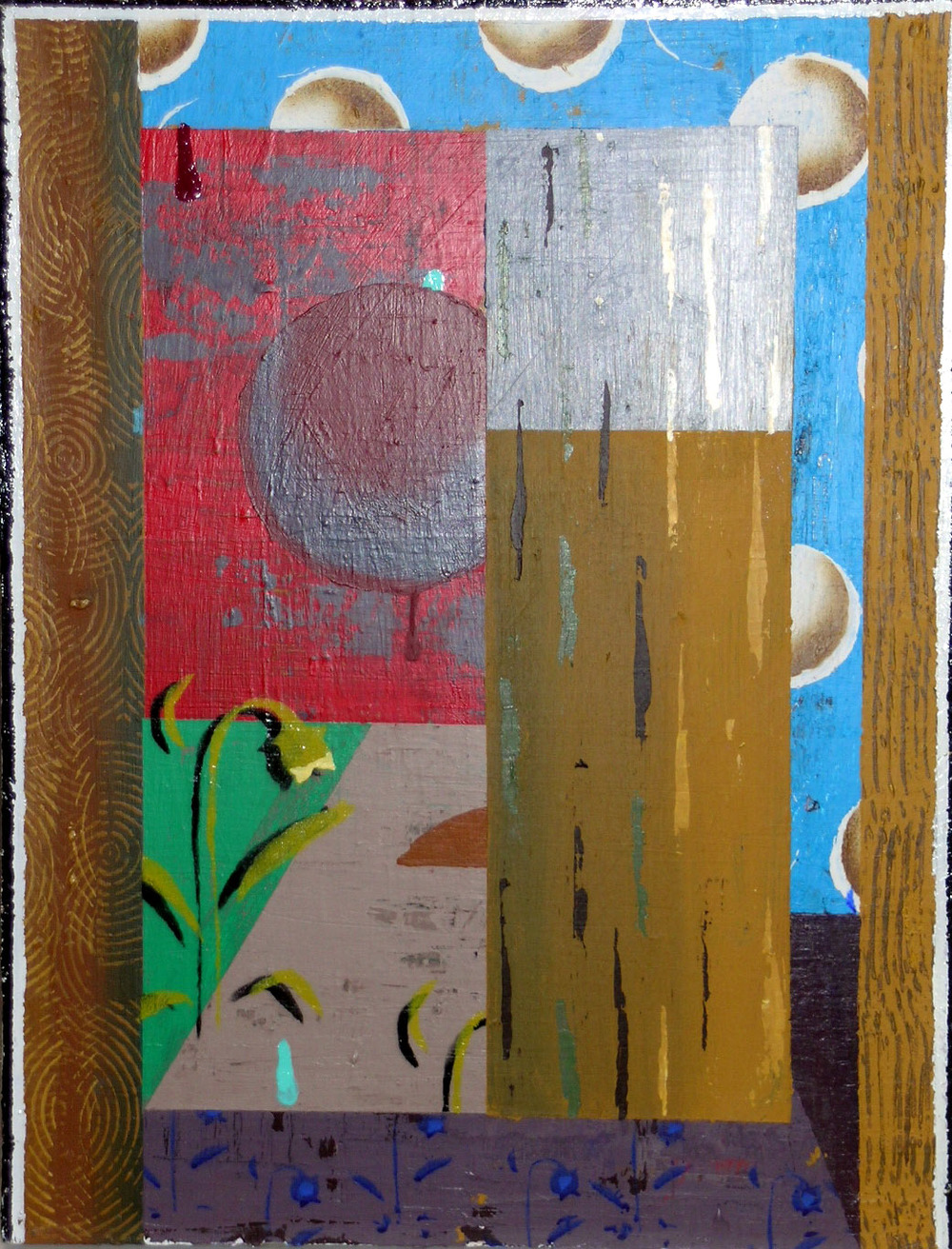 Day's Doubt,  1996 acrylic and enamel on canvas, 26 x 20 inches