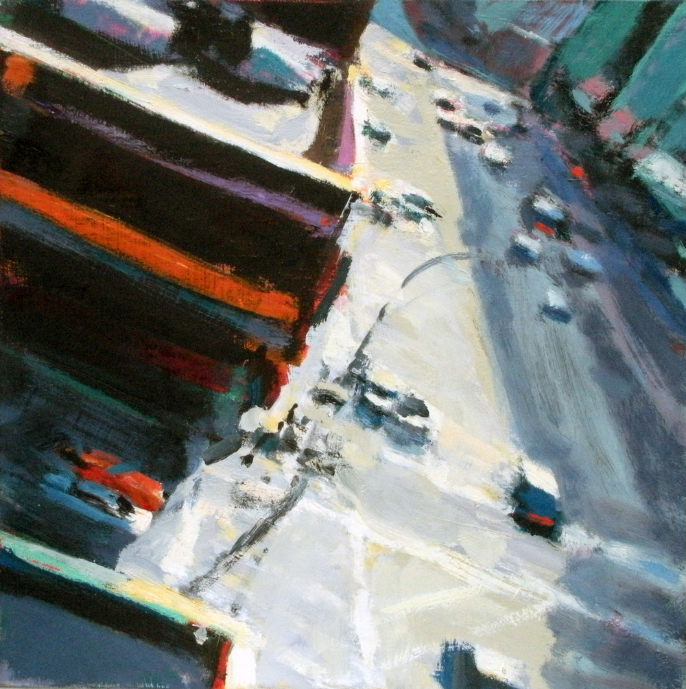 Canal Street West,  2011 oil on linen, 16 x 16 inches