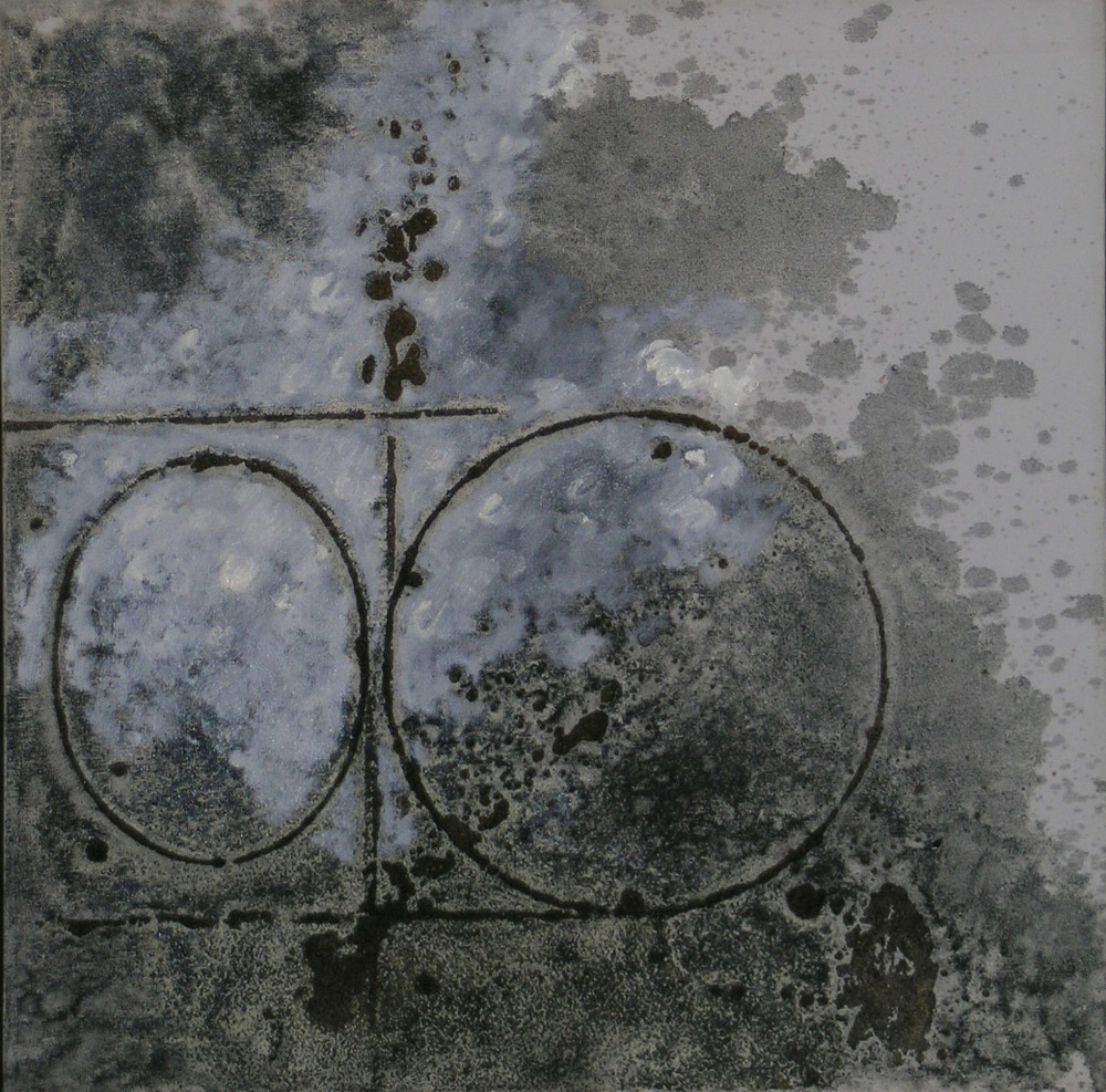 untitled W32,  1987 oil and sand on canvas, 24 x 24 inches