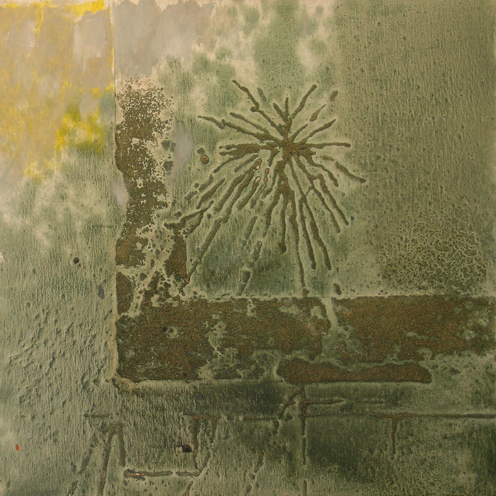 W. 31,  1987 oil and sand on canvas, 24 x 24 inches