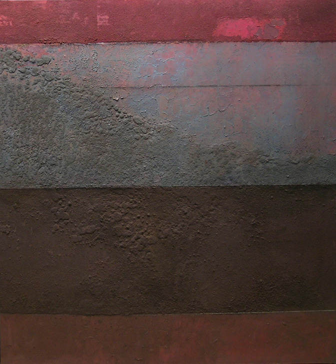 Vista,  1986 oil and sand on canvas, 60 x 60 inches