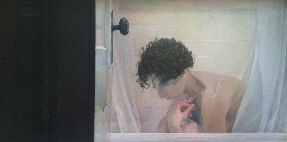 Reflection,  2011 oil on panel, 4 x 8 inche