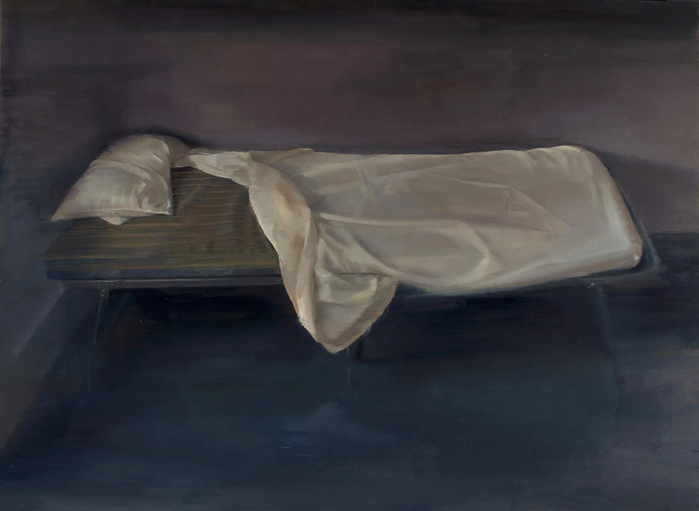SHIRA AVIDOR   Cot,   2013   oil on panel, 48 x 36 inches