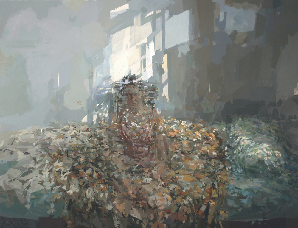 STEPHANIE PIERCE  Faldum , 2010-11 oil on canvas, 46 x 60 inches