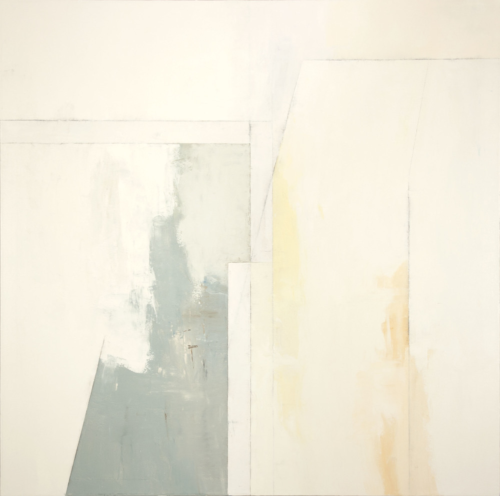 White No. 4   (Halcyon),  2014 oil on canvas, 66 x 66 inches