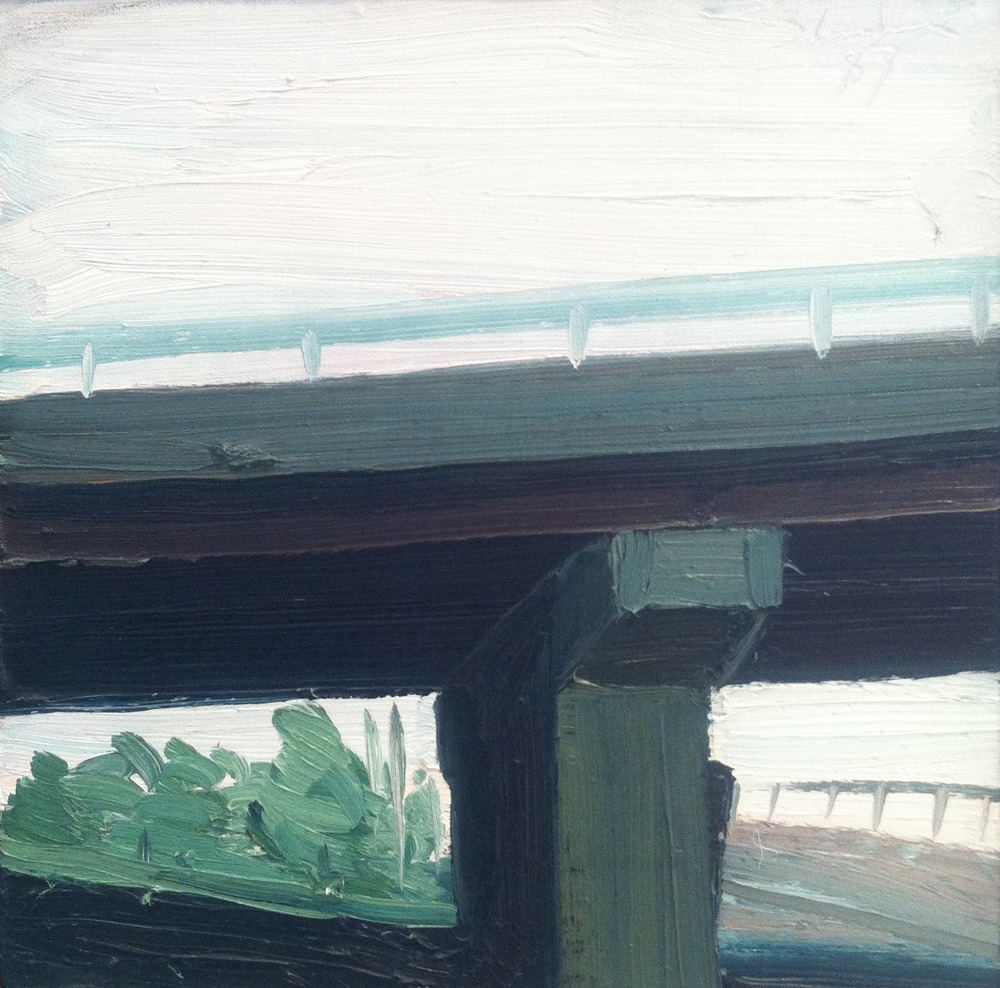 Bridge Study,  1983 oil on canvas, 12 x 12 inches
