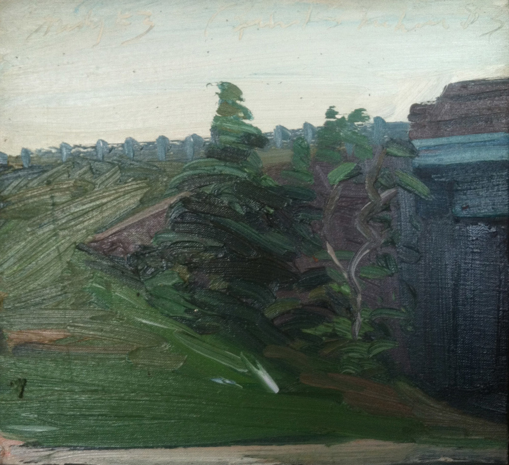 Study 3,  1983 oil on canvas, 11 x 12 inches