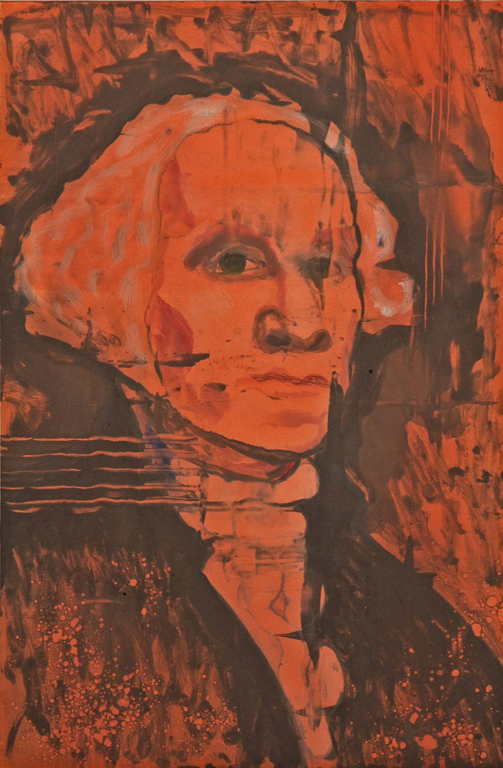 George Washington, 2007 monotype on paper, 30 x 22 inches