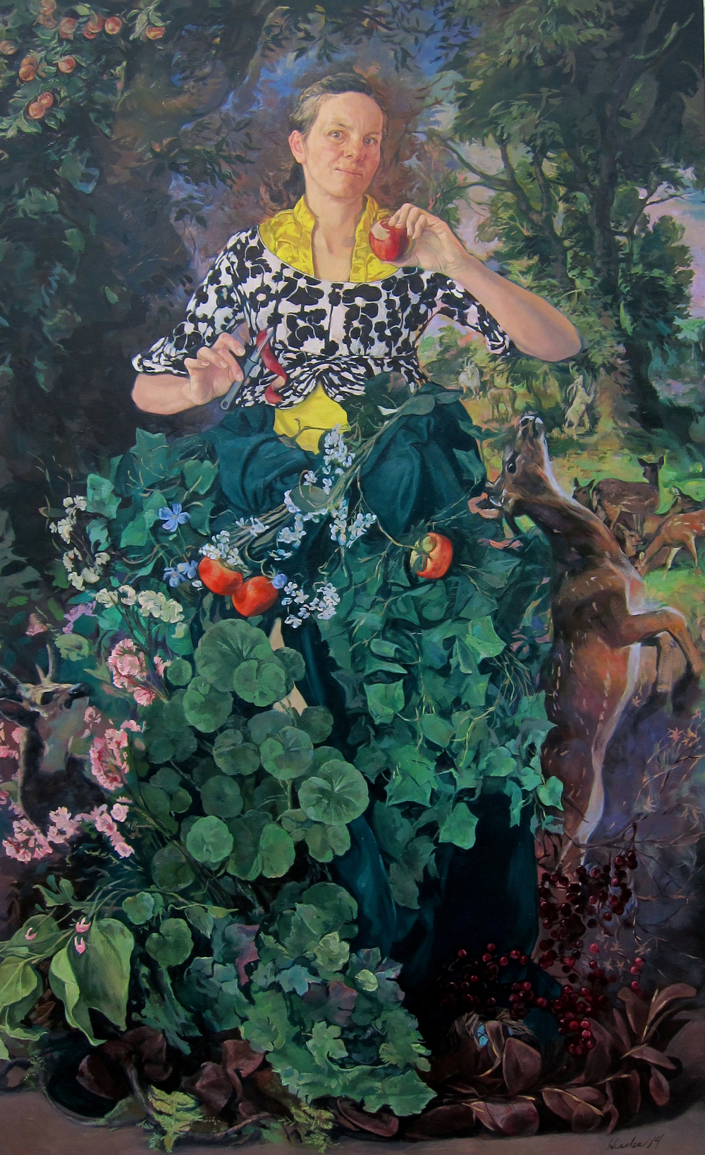 Eve II,  2014 oil on canvas, 72 x 44 inches