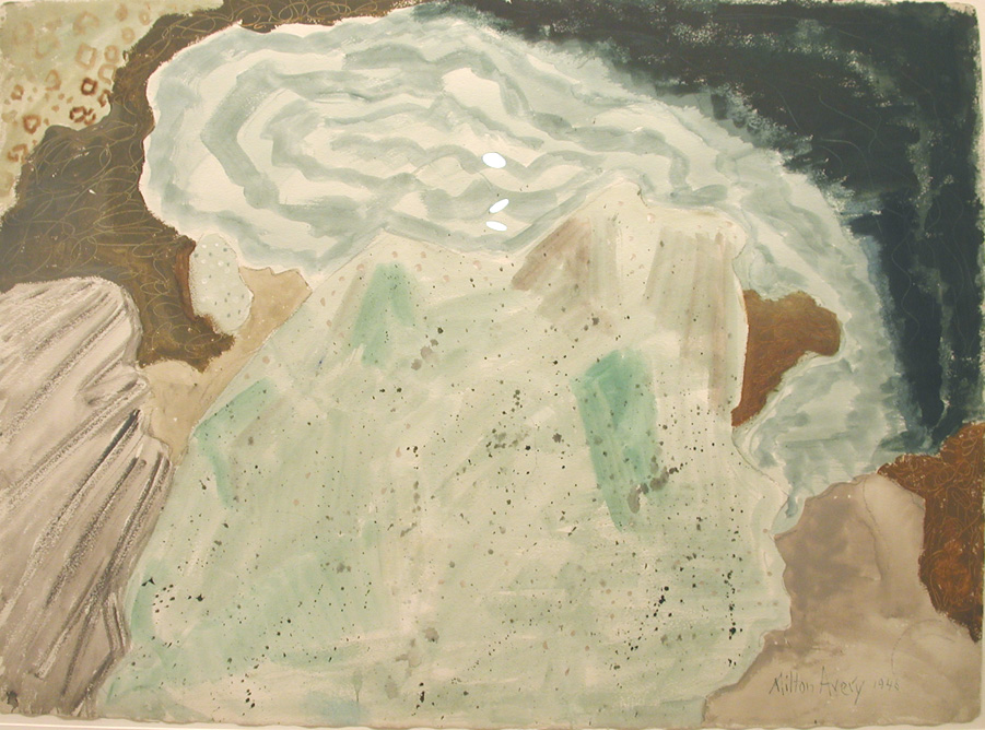 Hidden Bay , 1948, watercolor on paper, 22 x 30 inches