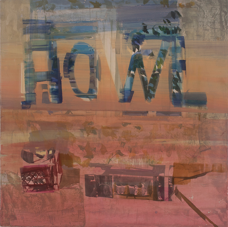 Howl, 2012-2015 oil on canvas mounted on panel, 11 1/2 x 11 1/2 inches