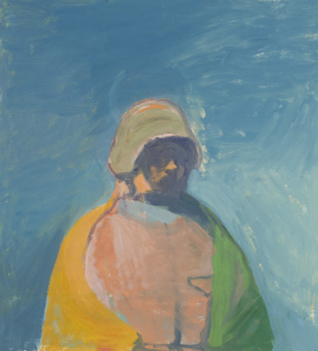 Soldier and Flag , 2009 il on canvas, 37 x 33 3/4 inches