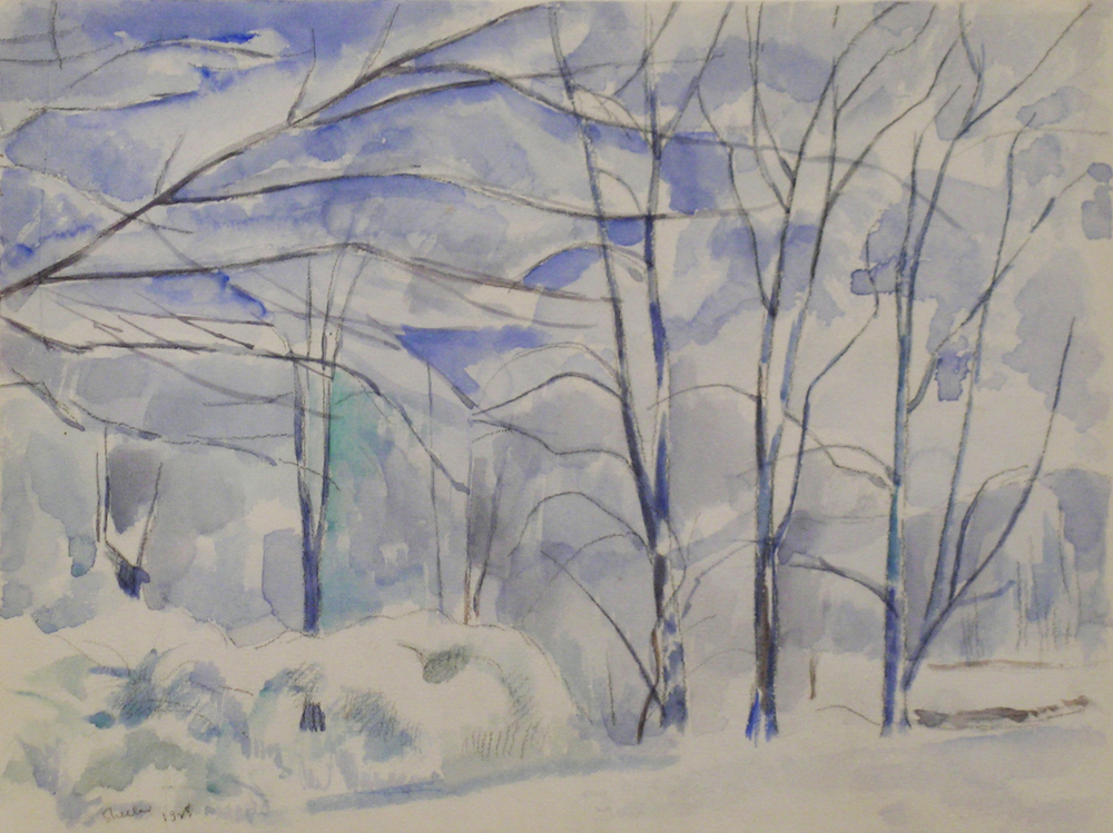 Charles Sheeler  Winter Landscape,  1928 ink and pencil on paper, 9 x 11 1/2 inches