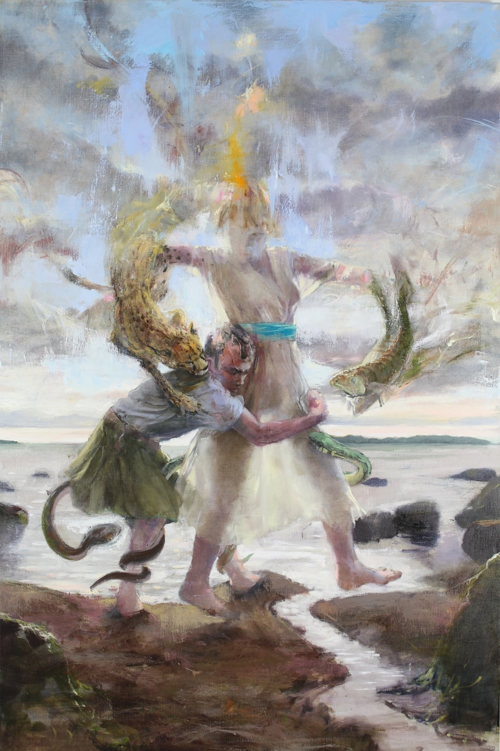 Peleus & Thetis , 2015 oil on canvas, 60 x 40 inches