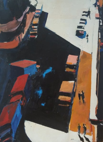 Howard Street , 1993-98 oil on linen, 40 x 30 inches
