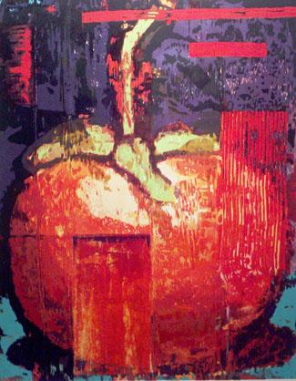 Cherry Tomato, 1993 woodcut
