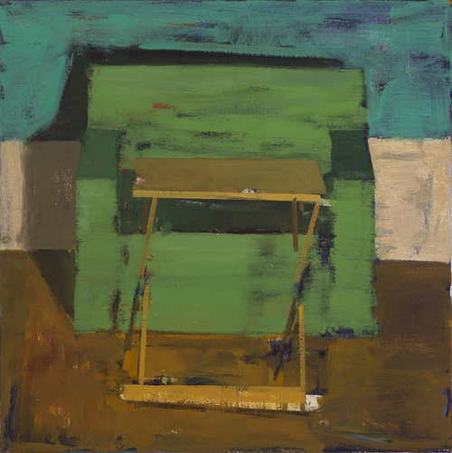 TV Dinner , 2015 oil on canvas, 24 x 24 inches