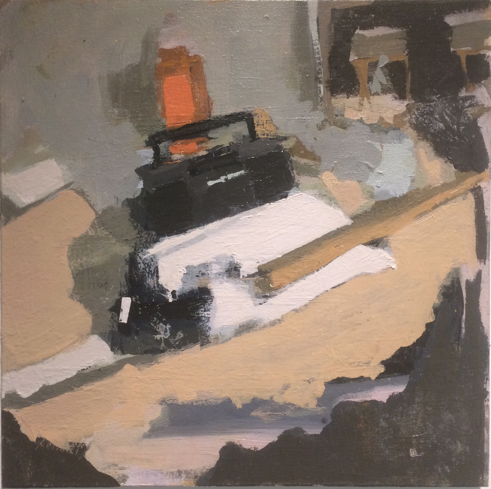 Boombox,  2015 oil on canvas, 16 x 16 inches